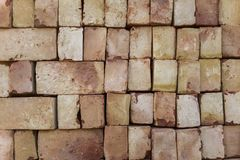 White red bricks lie on flat rows. rough surface texture. A white red bricks lie on flat rows. rough surface texture stock photos