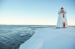 White and red canadian light house 3 Stock Image