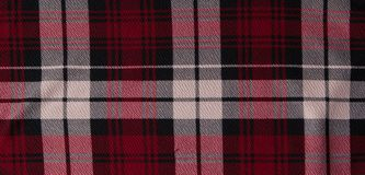 White and red cell fabric background. Checkered fabric close-up stock photography
