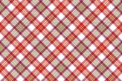 White red check seamless fabric texture Stock Photography