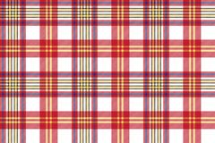 White red check seamless fabric texture Stock Image