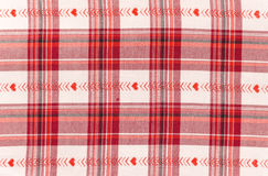 Red and white checkered fabric Royalty Free Stock Photography
