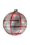 White and red christmas ball tree isolated Stock Photo