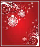 White and red christmas card. vector Stock Photos