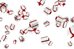 White and red christmas presents Stock Image