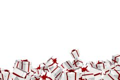 White and red christmas presents Royalty Free Stock Image