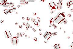 White and red christmas presents Stock Images