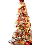 White and red christmas tree Royalty Free Stock Images