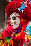 White red clown Venice Mask stock image