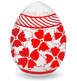 White red colorful painted easter egg Stock Photography