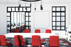 White And Red Conference Room Poster Stock Illustration - Red conference table