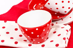 White and red cups Royalty Free Stock Photos
