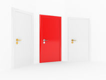 White and red doors Stock Photography