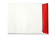 White,red Envelope document on white background Royalty Free Stock Image