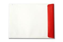 White,red Envelope document on white background Royalty Free Stock Image