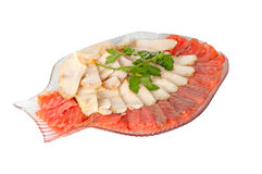 White and red fish in a plate Stock Image