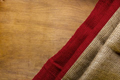 White red flag of Indonesia. On a wooden background royalty free stock images