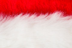 White and red fur. Texture of white and red fur , use for background Stock Photo