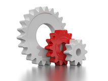 White and red gear Royalty Free Stock Photography