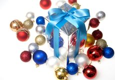 White and red gift Royalty Free Stock Images