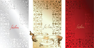 White Red Gold Fashion Backgrounds. Stock Photos