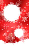 White And Red Gradient Christmas background with snowflakes Stock Photo