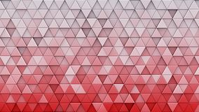 White red gradient triangles extruded 3D render. White red gradient triangles extruded. Abstract geometric background. 3D render illustration Royalty Free Stock Image