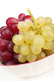 White and red grape cluster royalty free stock photography