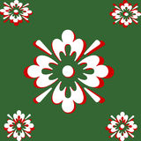 White and Red On Green Abstract Stock Photo