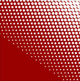 White-red halftone background Stock Image