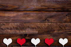 White and red heart on a stick Stock Photography
