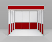 White Red Indoor Trade exhibition Booth Stand Royalty Free Stock Photography