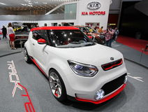 White and red Kia Track'ster concept Royalty Free Stock Photography