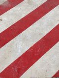 White and red line. Red and white Line Traffic stock image