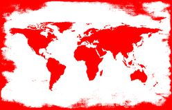 White-red map. White-red grunge map vector illustration
