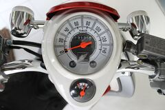 White and Red Motorcycle Gauge Royalty Free Stock Photo