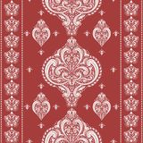 White and red ornamental Turkish seamless pattern. Paisley elements. Ornament. Traditional, Ethnic, Turkish, Indian motifs. Great for fabric and textile Stock Photos