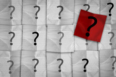 White and red paper pad with question mark symbol Stock Photography