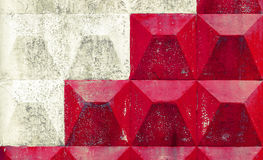 White and red pattern on concrete fence. Background texture Stock Photos