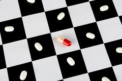 White and red pills Stock Photography