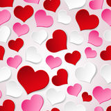 White red and pink valentine Royalty Free Stock Image