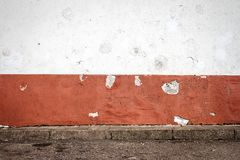 White and red plaster wall Stock Images