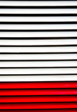 White and red Polish Strips Royalty Free Stock Photo