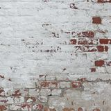 White Red Retro Brick Wall Whitewash Frame Background Texture Stock Photography