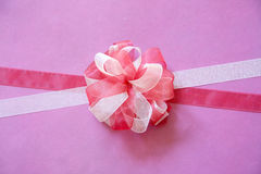 White and red ribbon Royalty Free Stock Image