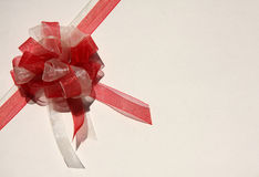 White and red ribbon Royalty Free Stock Photography