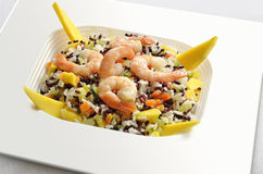 White and Red Rice salad Royalty Free Stock Images