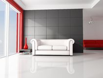 White and red room Royalty Free Stock Photos