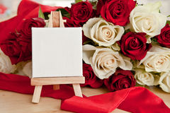 White and red roses Stock Photos