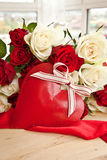 White and red roses Stock Image